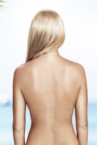 Woman back correction web